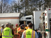 tractor trailer crash in Surry County