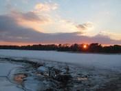 Sunset On Thawing Marsh