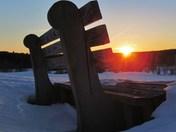 Sunset On Bench