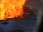 Car Fire blazing