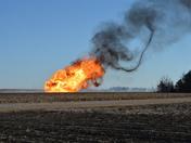 Gas line fire
