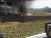 Pics of Fiery wreck this morning on 276