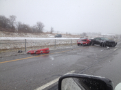 540 accident southbound just north of pea ridge exit