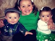 Big sister Mia, with twins Bella & Dominic
