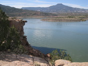 The Pedernal Across from Abiquiu Lake