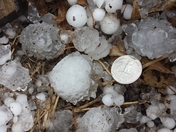 Hail picture in south kc