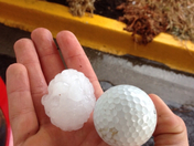 Hail at Lakewood golf course