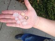 Hail in Warrensburg