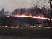 Fire along 119 N
