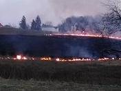 Fire along 119N