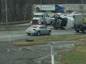 Overturned Tractor Trailer I-76