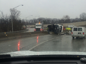 tractor trailer Irwin exit turnpike