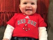 Go Red Sox. Emma Fecko 8 months from Framingham