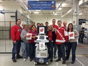 GE employees cheer on Badgers!!