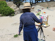 Pleine Aire Painter at Lovers Point, Pacific Grove