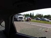 guy hit by semi crossing hwy 80