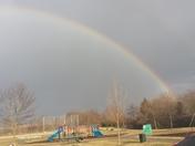 Rainbows during rain