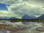 Mount Rundle and Storm clouds