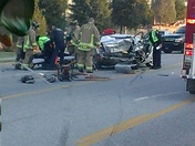 3 Car accident on Crossover