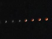 Lunar Eclipse Compositie Photo