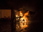 Backhoe Fire - Pictures