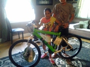 Son gets a bicycle after his gets stolen from a good samaritan named( Frank)