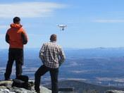 Drone on Jay Peak Summit