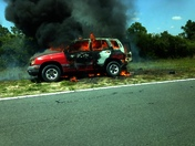 714 SUV on fire 2:25 PM