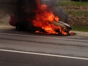 Car fire on I-94