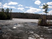 Ice going out on Norway Lake - April 24, 2014