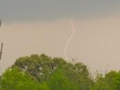 Lightning strike in Yazoo County