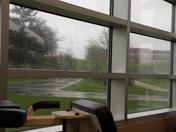 Rainy workout at Penn State Fayette