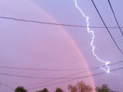 rainbow with lighting