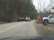 Accident involving single vehicle hit power pole around 4pm