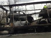 turnpike truck fire