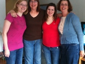 Mother's Day-Kay with her daughters.