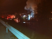 Fire in mount pleasant Township