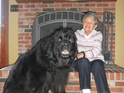 My mother with her granddog