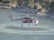Signal Fire Air Support Filling at Lake Roberts