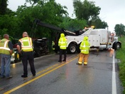 dump truck roll over