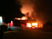 warehouse fire off of Lodi ave