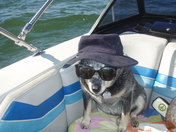 Maddie kickin at the lake