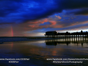 Rainbow and the OOB Pier by Stewart Smith Photography
