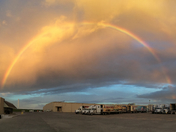 rainbow from Braums plant