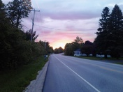this evening in mooers on route 11 walking...
