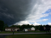 Weather front coming through Swanton