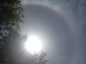 Rainbow around the sun!