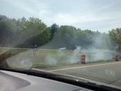 rte. 495 multiple Brush fires