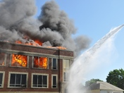Exira Public School Burning
