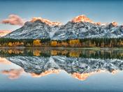 Wedge Pond Autumn Reflection